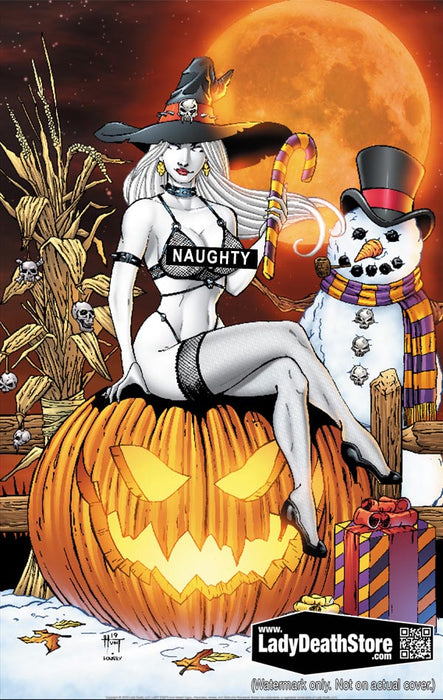 "Lady Death: Naughty Christmas Nightmare 11x17"" Print"