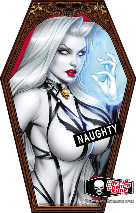 "Lady Death: Naughty Coffin-Shaped 11x17"" Print"