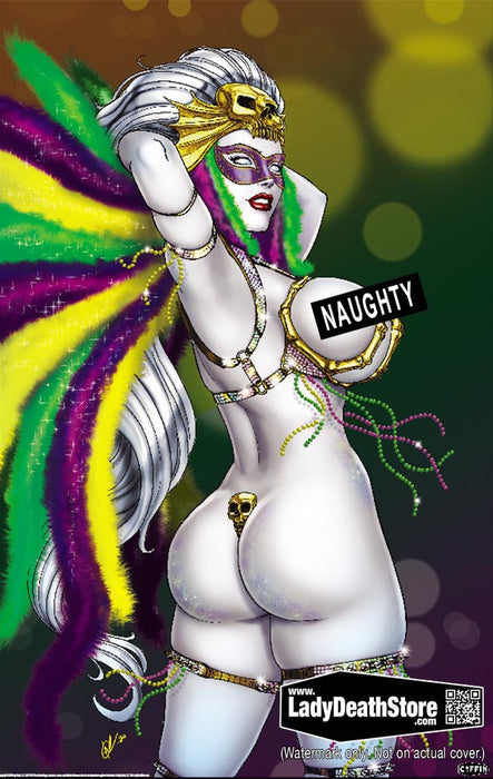 "Lady Death: Naughty Mardi Gras ""A"" 11x17"" Print"