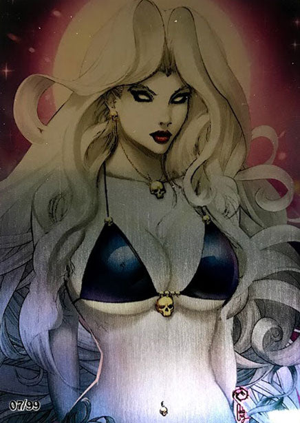 Lady Death: Naughty Moonlight Metallicard
