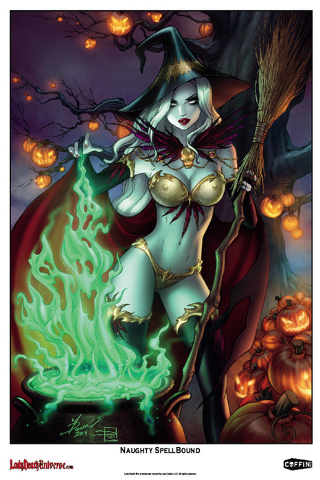"Lady Death: Naughty Spellbound 6x9"" Mini Print"