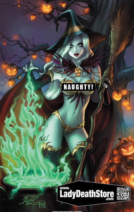 "Lady Death: Naughty Spellbound 11x17"" Print"