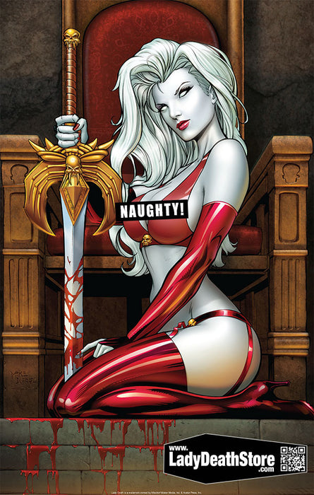 "Lady Death: Naughty Spike 11x17"" Print"