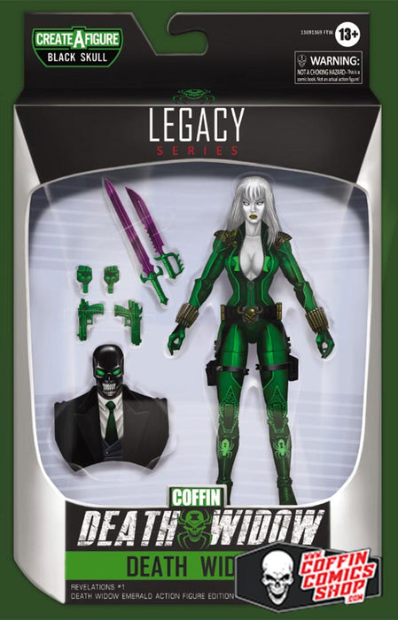 Lady Death: Revelations #1 - Death Widow Emerald Action Figure Edition