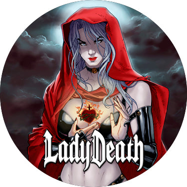 Lady Death: Sacred Heart Button