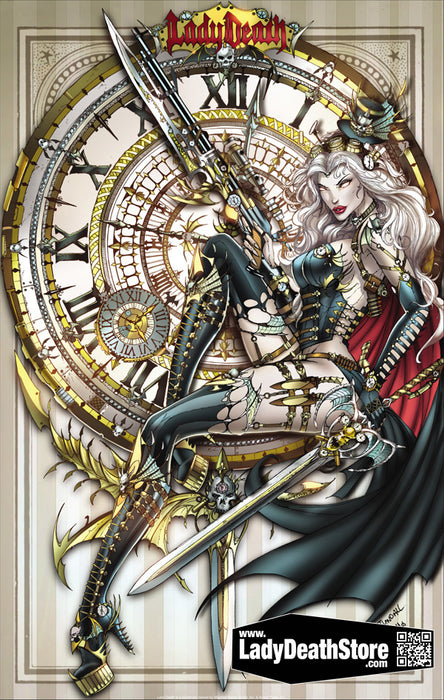 "Lady Death: Steam Queen 11x17"" Print"