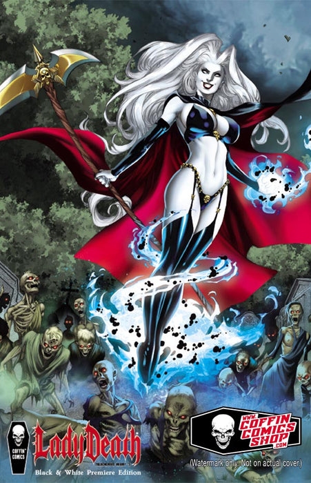 Lady Death: Treacherous Infamy #1 - Black & White Premiere Edition