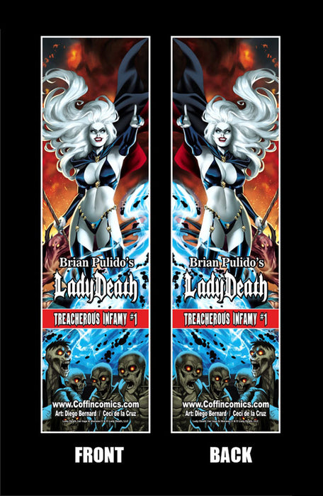 Lady Death: Treacherous Infamy Double-Sided Bookmark