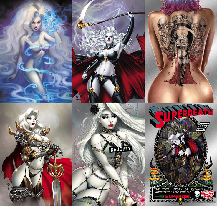 Lady Death: Treacherous Infamy - Kickstarter Metallicard Set