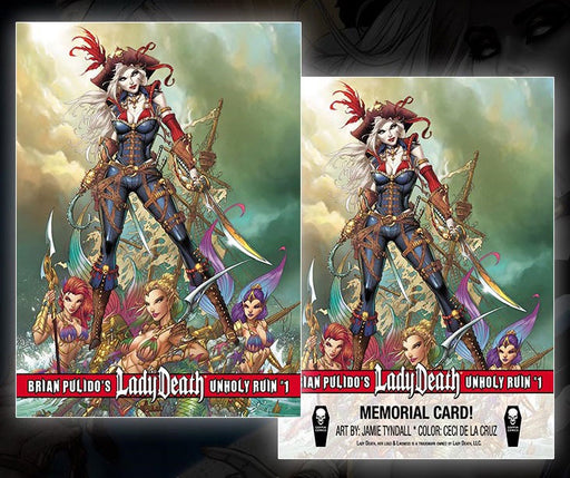 "Lady Death: Unholy Ruin ""Pirate"" Memorial Trading Card"