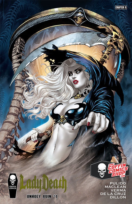 Lady Death: Unholy Ruin - Premiere Edition - Gold Foil (Scratch & Dent)
