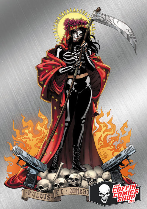 La Muerta: Skeletia Loco-Chrome Metallicard