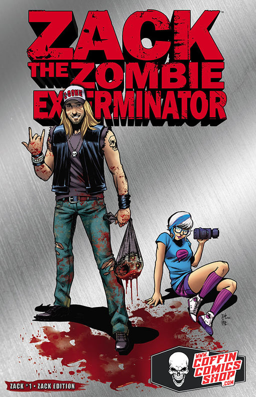 Coffin Comics Brian Pulido Zack The Zombie Exterminator #1 Chainsaw Ed Signed