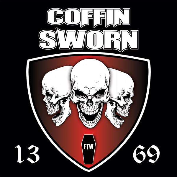 "Coffin Sworn 4x4"" Sticker"