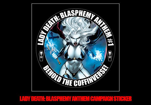 Lady Death: Blasphemy Anthem Campaign Sticker