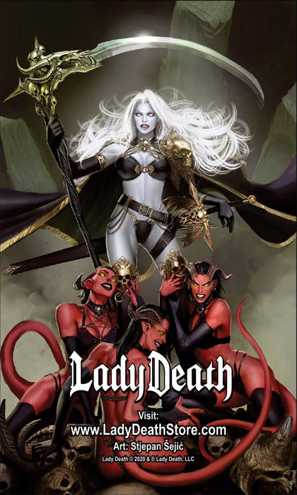Lady Death: Worship Fridge Magnet