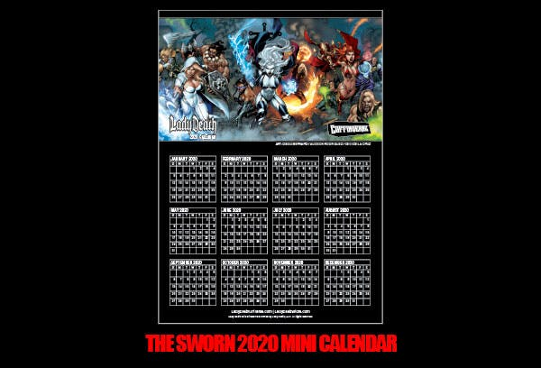 The Sworn 2020 Mini Calendar