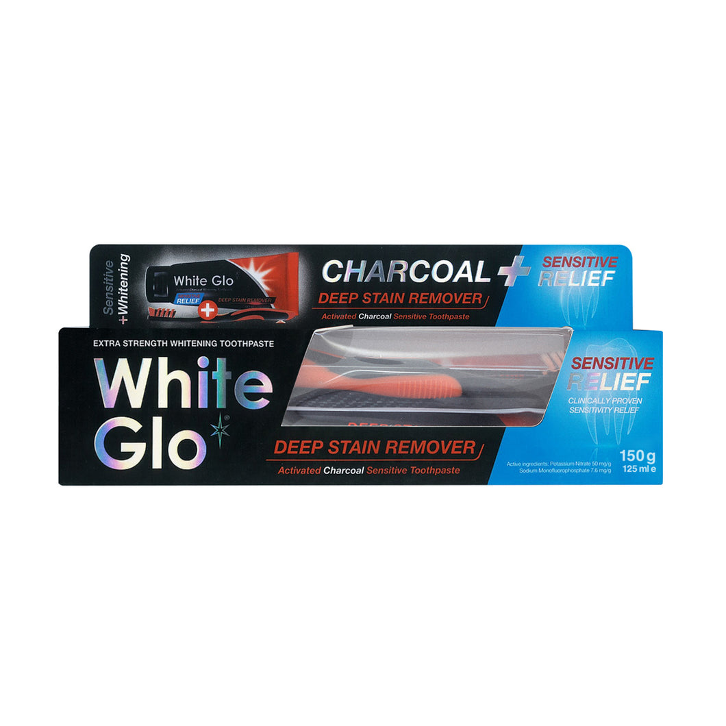 Charcoal Deep Stain Remover + Sensitive Relief Toothpaste