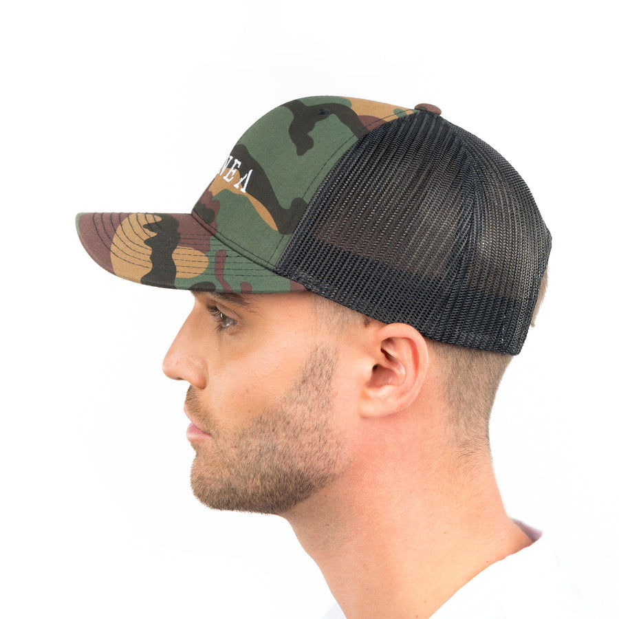 White Camo Trucker Hat