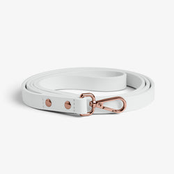 White on Rose Gold Leash