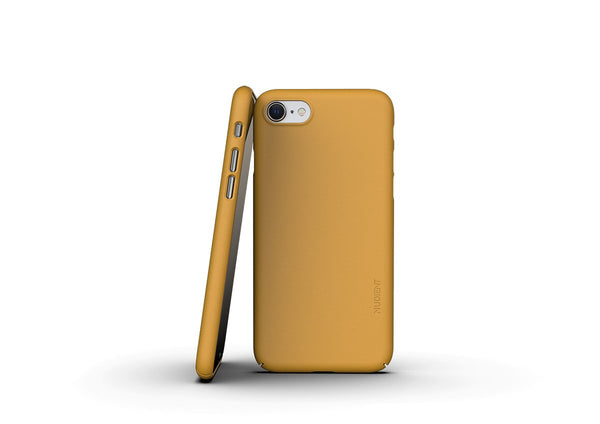 Nudient - Dun iPhone 7/8/SE Hoesje V3 - Saffron Yellow
