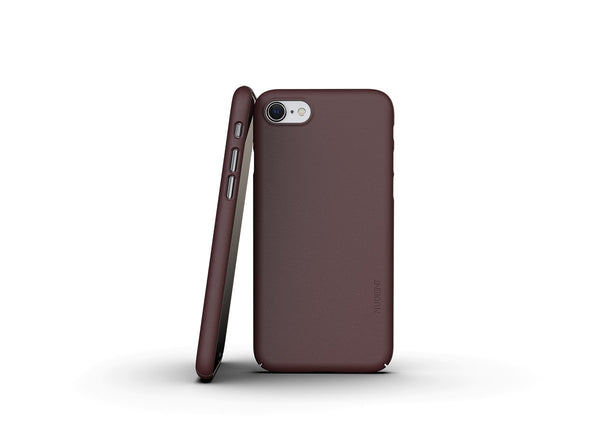 Nudient - Dun iPhone 7/8/SE Hoesje V3 - Sangria Red