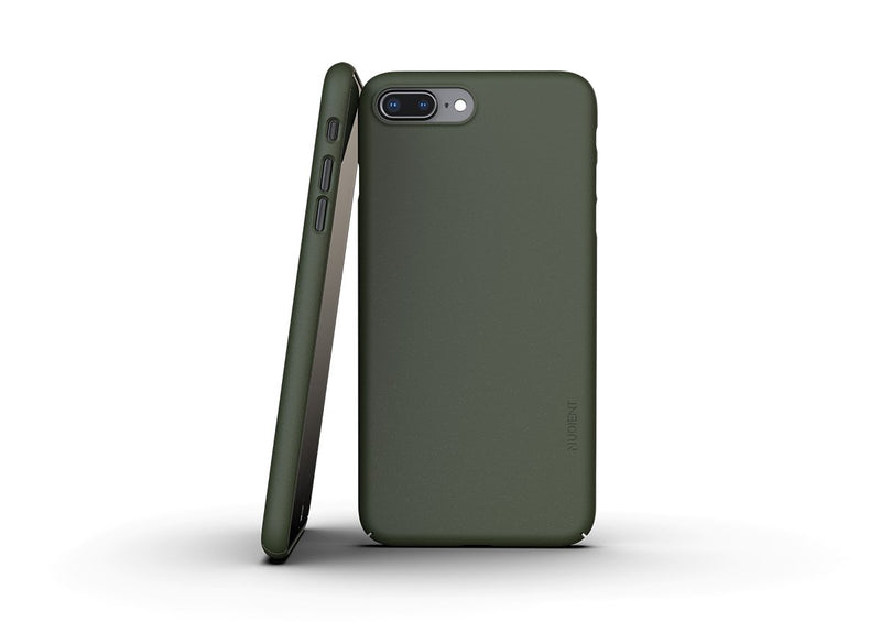 Nudient - Dun iPhone 7/8 Plus Hoesje V3 - Pine Green