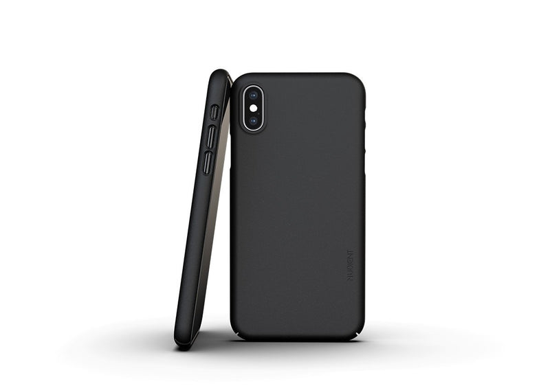 Nudient - Dun iPhone X Hoesje V3 - Ink Black