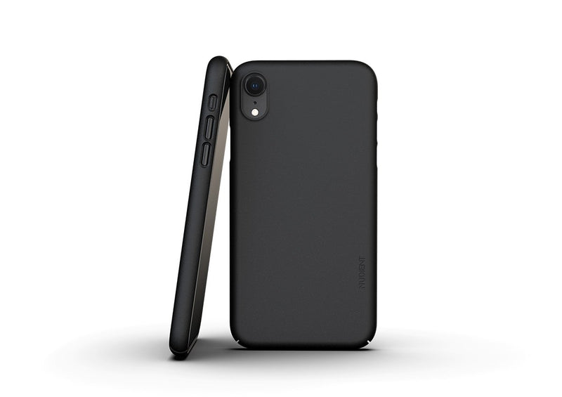 Nudient - Dun iPhone XR Hoesje V3 - Ink Black