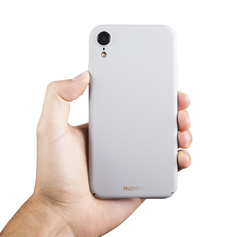 Dun iPhone XR Hoesje V2 - Pearl Grey