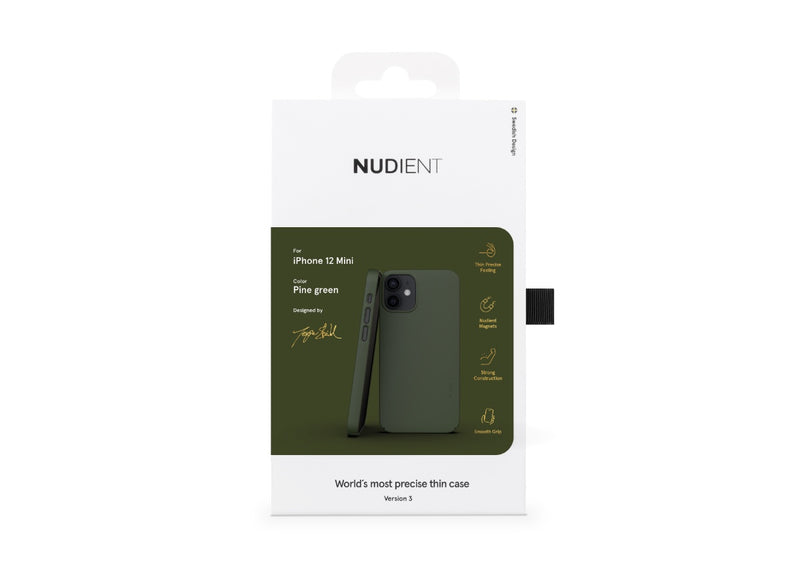 Nudient - Dun iPhone 12 Mini Hoesje V3 - Pine Green