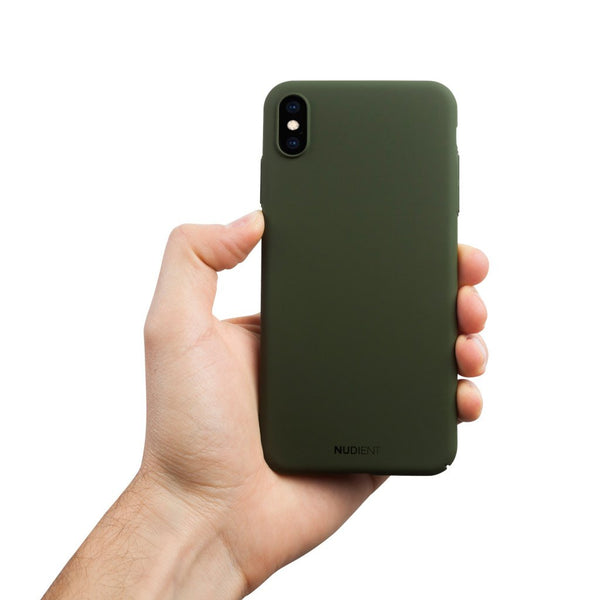 Dun iPhone XS Max Hoesje V2 - Majestic Green