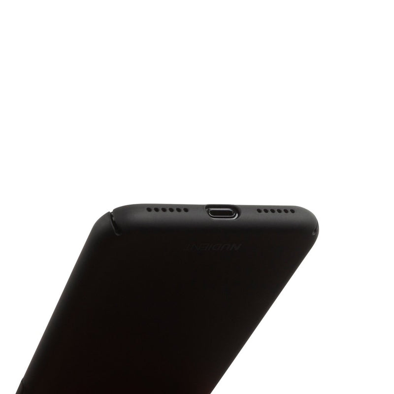 Dun iPhone X Hoesje V2 - Stealth Black