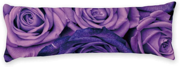 "AILOVYO Purple Rose Sexy Floral Long Body Pillow Case Cover Silky Shiny Satin Body Pillow Cover Custom Material 20"" X 54"""