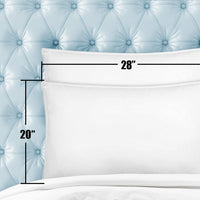 White Classic Luxury Bed Pillows for Sleeping | Down Alternative Hotel Pillow NO Flattening | 2 Pack | Queen Size