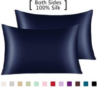 YANIBEST Pillow Cases 2 Pack 100% Mulberry Silk Pillowcase for Hair and Skin with Hidden Zipper