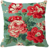 SG.Maybee Pink Vintage Floral Thorw Pillow Cover 18 x 18inch Square Decorative Cushion Case