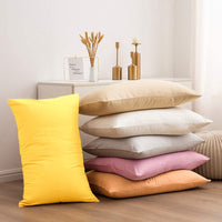"NTBAY Queen Pillowcases Set of 4, 100% Brushed Microfiber, Soft and Cozy, Wrinkle, Fade, Stain Resistant with Envelope Closure, 20""x 30"", Yellow"