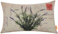 "LINKWELL 18""x11"" Vintage Lavender Burlap Cushion Covers Pillow Case"