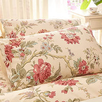 YOU SA Ultra-Soft Cotton Pillowcases Floral Printed Pillow Covers Set of 2 (Standard,Color-5)