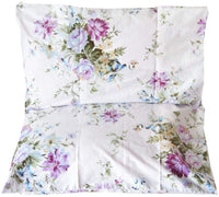 YIH 2 Piece Queen Size Pillow Cases, 100% Cotton Red Floral Pillow Covers with Envelope Closure, Super Soft and Cozy