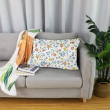 ALAZA Floral Pillowcase Cotton Lint Pillow Case Sham with Zipper for Bedroom Living Room Home Decor