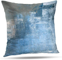 WAYATO Blue 18 x 18 Decorative Pillow Covers, Dandelion Seeds Abstract Blue Double-Sided Pattern Square Sofa Cushion Covers Cute Throw Pillows for Living Room