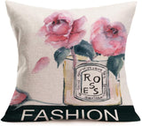 Fukeen Floral Saying Decorative Pillow Covers Inspirational Quotes Home Decor Cotton Linen Throw Pillow Cases Square Standard 18x18 Inch Pillowcase Cushion Cover, She Believed She Could So She Did