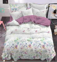 Yikaisheng Queen Size Floral Bedding Sets,Comforter Cover with Soft Microfiber. 1 Duvet Cover and 2 Pillow Shams (No Comforter Inside)