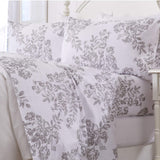 Great Bay Home Extra Soft Toile 100% Turkish Cotton Flannel Pillowcases. Warm, Cozy, Luxury Winter Pillowcases. Belle Collection (Standard, Mauve Chalk)