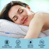 Sleepsia Bamboo Pillow - Premium Pillows for Sleeping - Memory Foam Pillow with Washable Pillow Case - Standard Size Pillows (Stardard)