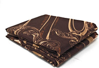 Tache Floral Rose Brown Gold Pillowcase - Melted Gold Brown - Microfiber Elegant Decorative 20x30 Standard Queen Size Pillow Covers - 2 Piece Set