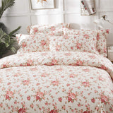 Brandream Cotton Pillow Cases Set of 2 Standard Size Farmhouse Pillow Covers 20 X 27 Inch Shabby Floral Bedding