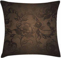 "Ambesonne Victorian Throw Pillow Cushion Cover, Floral Paisley Ivy Design Leaves with Abstract Details Print, Decorative Square Accent Pillow Case, 18"" X 18"", Seal Brown"